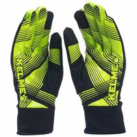 Wholesale Kelme K15Z9110 Men Football Training Cold proof Casual Sports Autumn And Winter Anti skid Keep Warm Gloves Fluorescent Green