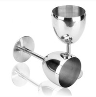 Wholesale Stainless Steel Red Wine Cup ML Bar Party Anti broken Advanced Metal Glass Goblet Standing Cup Juice Beer Drink Drinking ware