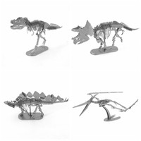 animal skeleton models - Tyrannosaurus Rex Skeleton Toys D Metal Puzzles Dinosaur Model Building Kits DIY Stainless Steel Laser Cutting Jigsaw Assembly