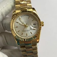 Wholesale Luxury brand men s automatic movement watch mirror white surface gold watchband shell a man watches log