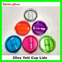 Wholesale 20oz Colorful Yeti Cups lids Spill Proof Covers for Yeti Ramber Tumblers Cups Mugs Replacement Leakproof Covers Spillproo Lids