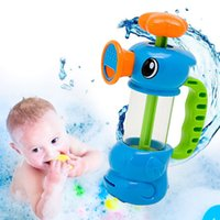 Wholesale Baby Bath Water Toys Sea Horse Sprinkler Pumping Design Colourful Hippocampal Shape Eco friendly Plastic ABS Baby Bath Toy