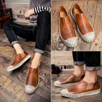 Precio de Hombres zapatos nuevos estilos-Los nuevos hombres de la manera del estilo Resbalón-en el ocio de los holgazanes de los hombres calzan el envío libre YonDream-458 de los zapatos populares del caminante del cuero de la tendencia