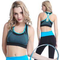 Wholesale hot sale no steel ring fashion movement bra gather cross vest quick drying running fitness yoga underwear AP07
