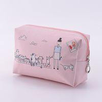 Wholesale Lady New Hot Sale Travel Makeup Fashion Women candy Cute PU Zip Cosmetic Bag