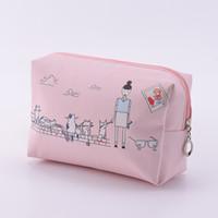 al por mayor mujer postal-Señora Nueva Hot Sale Travel Maquillaje Moda Mujer Candy Cute PU Zip Cosmetic Bag