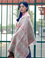 Wholesale American couple knitted scarf scarf shawl dual thickening retro female winter all match folk style