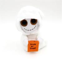 Wholesale 15CM TY Beanie Boos Big Eyes Halloween Mist White Ghost Plush Dolls Stuffed Toys For Children Gifts