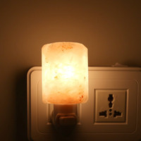 Wholesale Himalayan Crystal Salt Lamp Table Lamp Bedroom Adornment Night Light Plug In Natural Himalayan Salt Night Light Air Ionizer Natural Lamp p