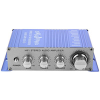 bass amp speakers - New Mini Hi Fi Auto Car Stereo Amplifier channel Audio Amp CD DVD MP3 Input for Motorcycle Home Bass Speaker Booster Vehicle car amplifier