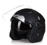 Casco moto cara abierta capacete para motocicleta cascos para moto Racing Jiekai motocicleta cascos vintage con lente dual
