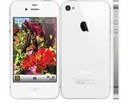 al por mayor apple iphone 4s 32gb desbloqueado-Remodeló el teléfono abierto original de la cámara del teléfono 16GB 32GB del iPhone 4S de la ROM el teléfono elegante de la manzana de la base WCDMA 3G WIFI GPS 8MP de la cámara libera DHL