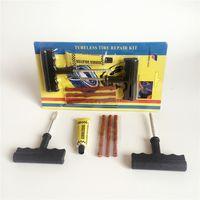 Wholesale Set Auto Car Tire Repair Kit Car Bike Auto Tubeless Tire Tyre Puncture Plug Repair Tool Kit Diagnostic tool Car Accessories