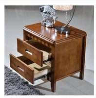 Wholesale Special offer simple bedside table locking oak logs ready color white bedroom furniture lockers