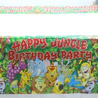 animal birthday party themes - Disposable Table Cloth Cartoon kids Jungle Animals theme birthday party decoration Table Cover Kid Boy Birthday cm