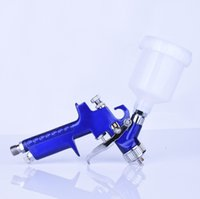 Paint Spray Gun auto repair sales - Top sales Air Painting spray gun with palstic up cup for car painting and auto repair air hvlp airbrush free DHL shipping