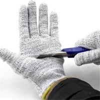 Wholesale Dyneema Cut Resistant Safety Gloves Protective Working Gloves PU Coated Anti Static Wear Resistant Gloves For Men Workplace Safety Supplies