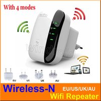 achat en gros de wifi booster uk prise-Sans fil N Wifi Répéteur 802.11N / B / G Réseau Router gamme 300Mbps Antennes Signal Booster Extend wifi Amplifier Amplificateur EU EU AU UK Plug 30
