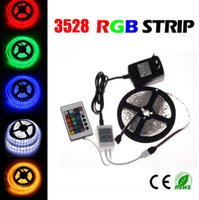 SMD 3528 24 adapter - Waterproof RGB LED Strip M LEDs M with Key Remote Controller V A Power Adapter Tape RGB LED Ribbon