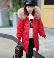 Wholesale Children s wear new children down jacket girls in long thickening han edition cuhk boy girl hooded winter coat