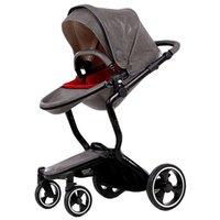 Wholesale 3 Colors New European Luxury Baby Stroller High View Prams Folding Poussette Kinderwagen bebek arabas