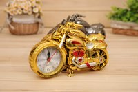 Wholesale Creative colors cool motorcycle shape alarm clocks plastic motor bike home clock souvenier household gifts
