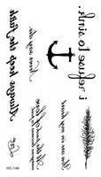 anchor temporary tattoos - Temporary tattoos Waterproof tattoo stickers body art Painting for party event decoration anchor letters
