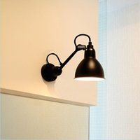 Wholesale Wall lamp of the head of a bed bedroom living room European modern wrought iron long pole arm folding rotary creative arts fashion lighting