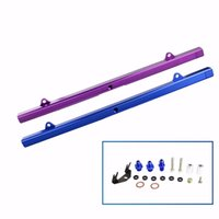 Wholesale Fuel Systems Billet Aluminum Intake Fuel Injector Rail Kit For EJ20 RB25 Purple Blue