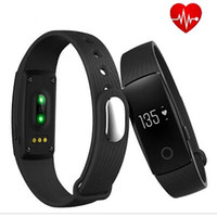 Wholesale Original ID107 Smart Wristband Smart Bracelet heart rate Fitness Smart band clock for IOS android PK Xiaomi mi band PK fitbit