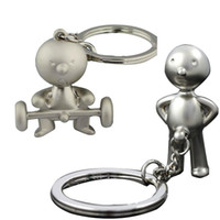 Wholesale Hot Silver Creative Classic Mr P Boy Key Ring Fob Keychain Funny Keyring Chain Gifts