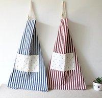 Wholesale Comfortable stripe Fashion cotton hemp apron Red Blue pc