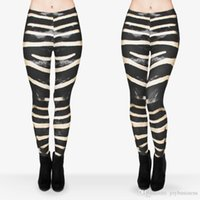 al por mayor animales pantalones de impresión de yoga-Las mujeres polainas zebra piel gráfica lápiz de impresión pantalones pantalones de yoga estirado flaco (j29612)