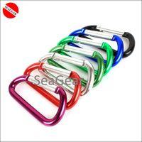 Wholesale SCUBA diving D shape carabiner aluminium clip carabinner accessories clip hook