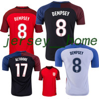 Wholesale Top Thai quality USA Jerseys United States Shirt DEMPSEY DONOVAN BRADLEY ALTIDORE America Cup Home Away rd football shirt