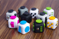 Wholesale 2017 Magic Fidget Cube Anti anxiety Decompression Toy Adults Stress Relief Kids Toy Gift Colors OTH331 DHL shipment