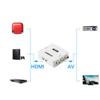 Portable Mini Composite 1080P HDMI vers RCA Audio Vidéo AV CVBS Adaptateur Convertisseur Pour HDTV PS3 PS4