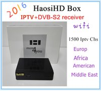 Wholesale Genuine cheapest Arabic high definition IPTV set top box with high definition Haosi Arab TV IPTV channel Europe and the Americ