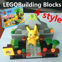 Wholesale Poke Blocks QS08 Pokémon go Small particles Building blocks assembled action figure doll Pikachu Children s educational toys style wholesal