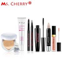 Vente en gros - Ensemble de maquillage nu BB Cream Air Cushion Cream Grips pour sourcils Eyeliner Mascara Kits à lèvres pour <b>Lady City</b> Elite MB001