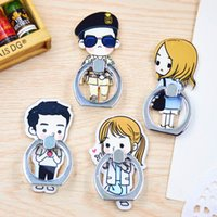 adhesive handle - Romantic Lovers Cartoon Cell Phone Ring Stent Finger Handle Holder Adhesive Phone Stand for all mobile phone