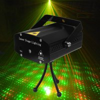 Wholesale Portable Mini Led Projector DJ Disco Light Red And Green Music Stage Lights Xmas Party Wedding Club Show Laser Lighting
