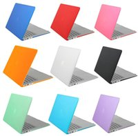 Wholesale Clear Crystal Rubberized Crystal Surface Hard Cover Case For Macbook Air Pro Pro Retina inch Laptop Crystal Protector Shell Colorfu