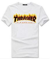 achat en gros de marque pas cher nouvelle fraîche-2017 Thrasher Cool T-shirt Hommes d'hommes de femmes de Hip Hop Style Brand New Lovers Coton Haute qualité Chemise de bas de copie d'impressions