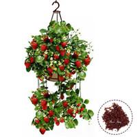 Cheap 100pcs Planting Hanging Strawberry Seeds semenatsvety garden bonsail Fruit Delicious