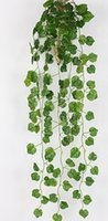 artificial foliage - Artificial Ivy leaves Garland Plants Artificial Foliage Flowers forks cm length Ivy Vine Green Leaves