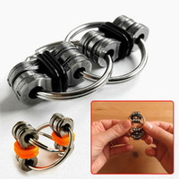 Big Kids bicycles chain - Newest Decompression Toy Key Ring Hand Spinner Fidget Stainless Steel Bicycle Chain Buckle Key Ring Finger Gyro color g
