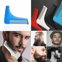 Precio de Recortar las herramientas de corte-Bro-barba Beard Bro Beard herramienta de modelado para hombres líneas perfectas pelo moda trimmer trim corte de cabello gentleman Modeling Combs B0900