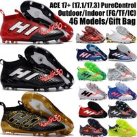 Wholesale Mens High Ankle Football Boots ACE Purecontrol FG Soccer Shoes Futsal ACE Pure Control Copa Soccer Cleats Brands