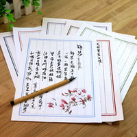 Wholesale Chinese style retro kraft paper white letter Paper stationery set mm10 set Romantic red vertical love letter Eight kinds of style